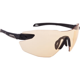 Alpina Twist Five Shield RL VL+ Glasses black matt-orange